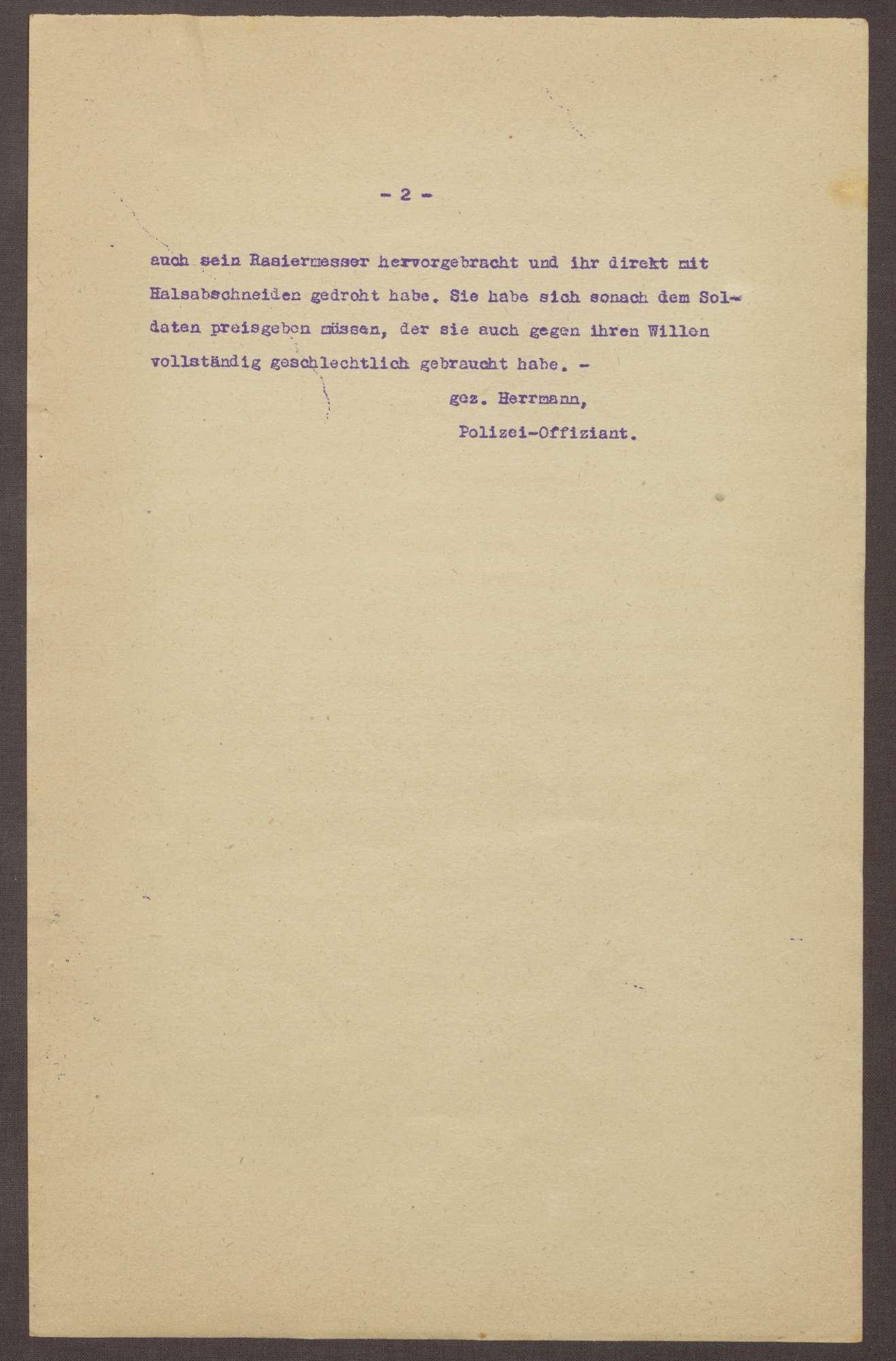 Polizeibericht über eine Vergewaltigung in Ludwigshafen, Bild 2