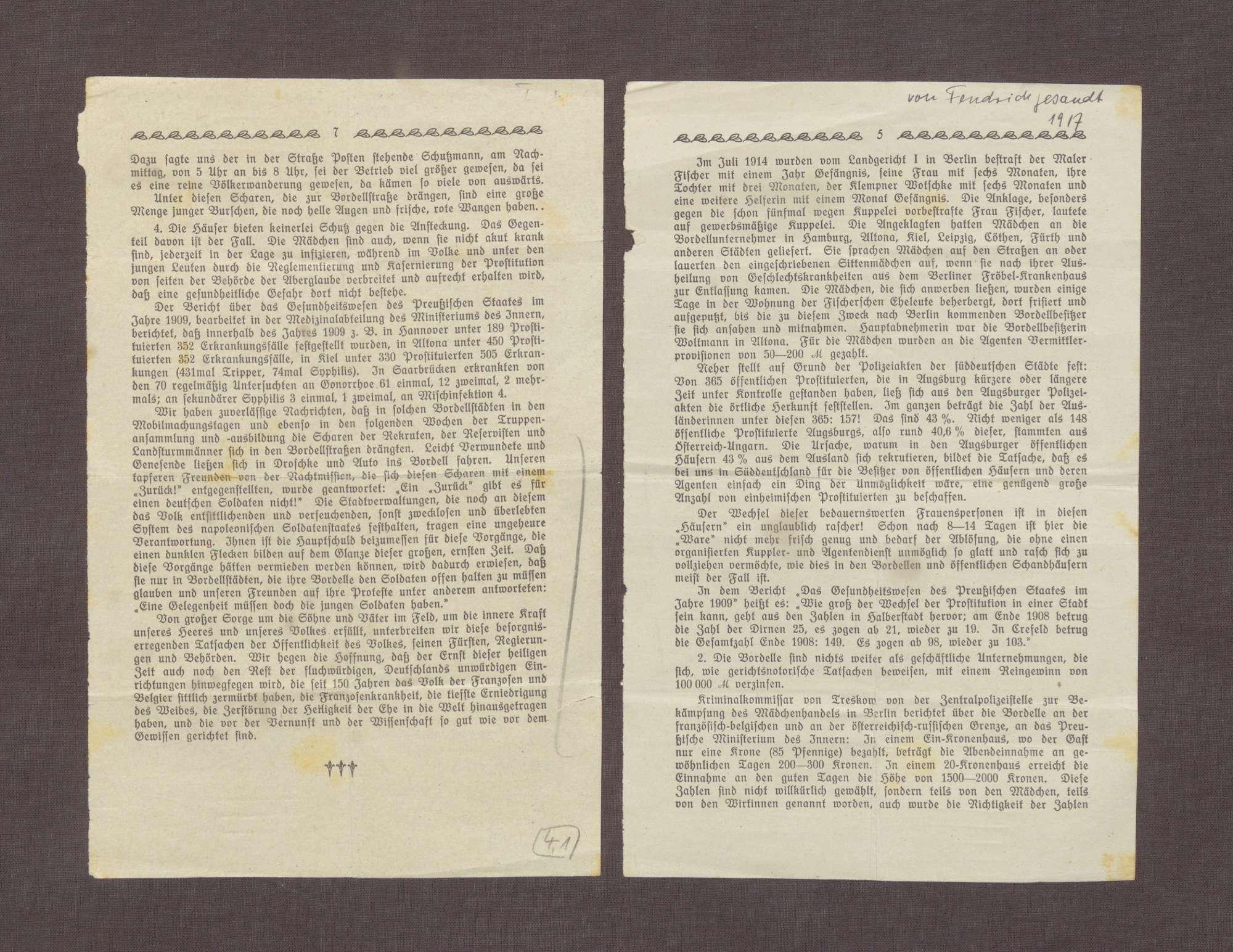 Auszüge des Jahresberichtes der Inneren Mission in Duisburg 1916/1917, Bild 2