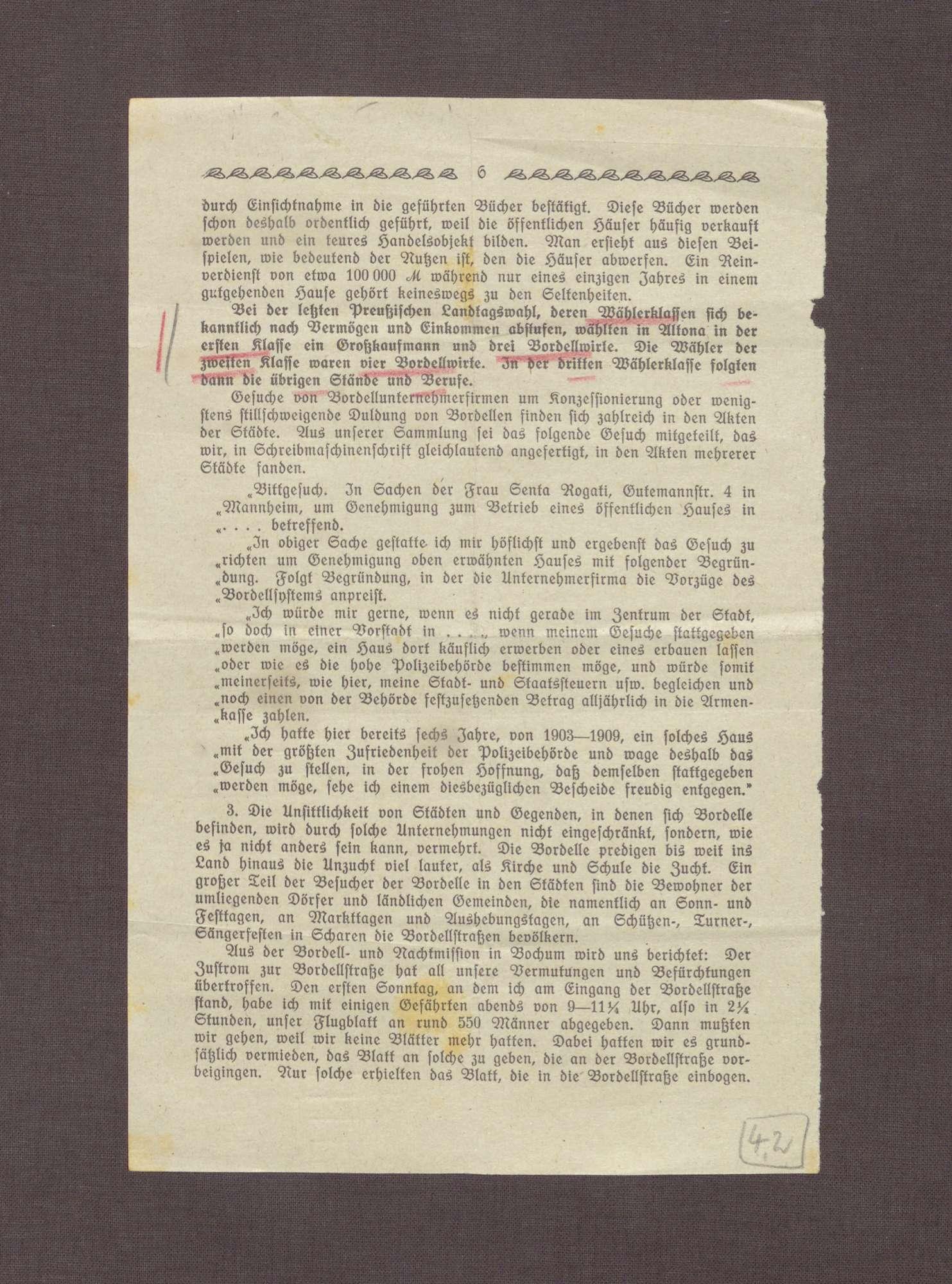 Auszüge des Jahresberichtes der Inneren Mission in Duisburg 1916/1917, Bild 3