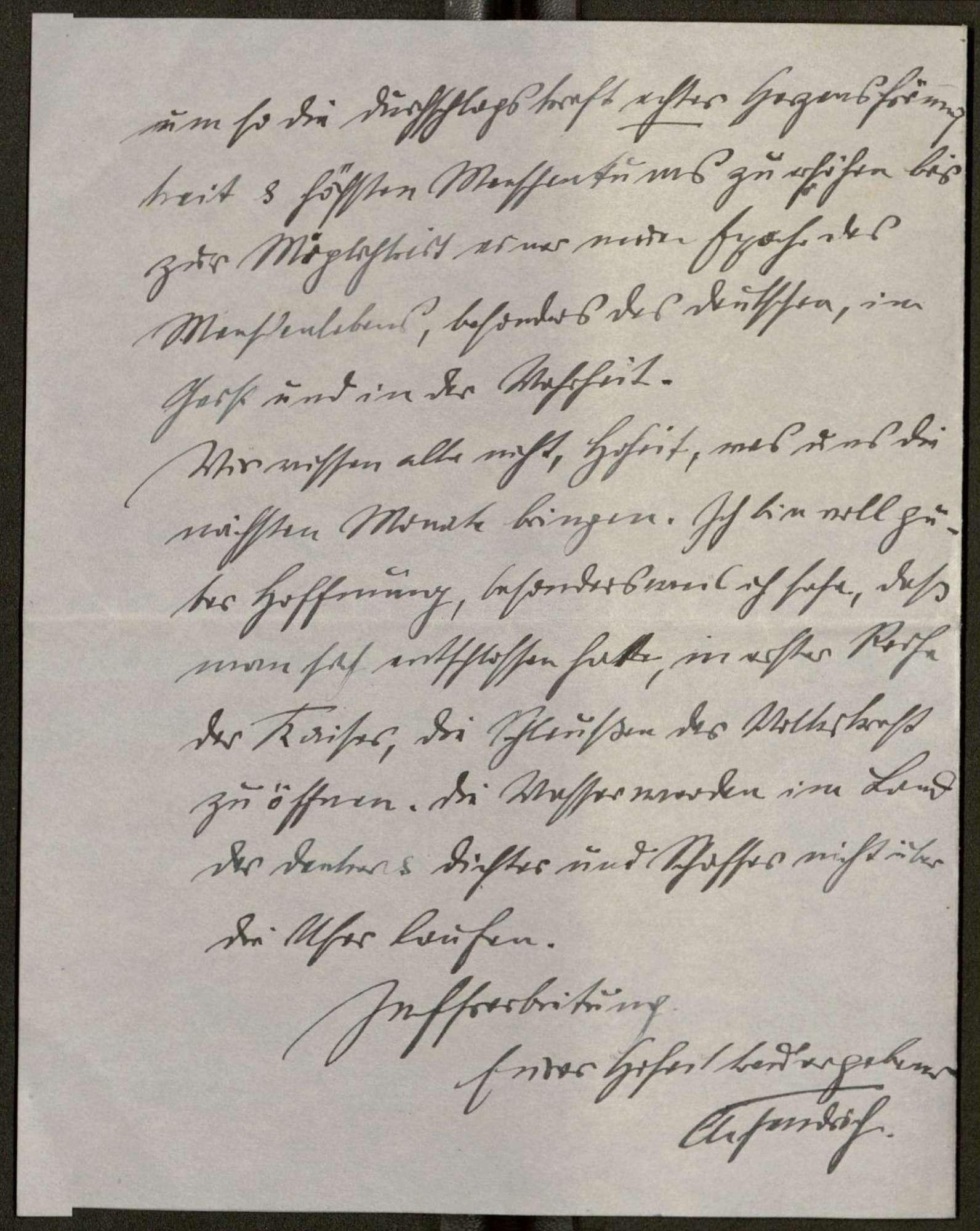 Schreiben von Anton Fendrich an Prinz Max von Baden; Regierungsbeteiligung Friedrich Eberts, Bild 3