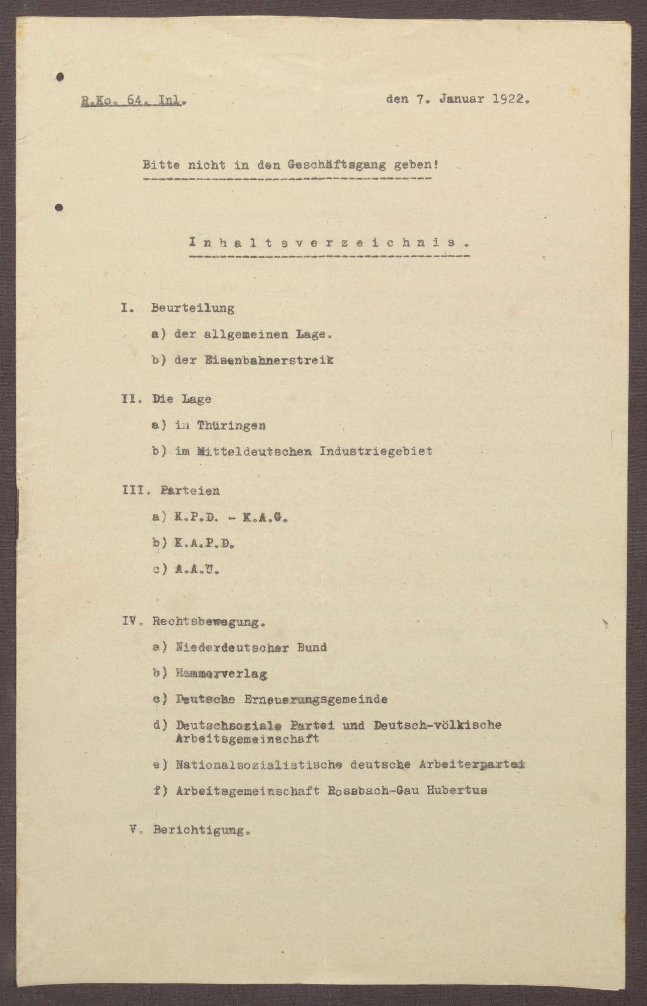 Lageberichte des Reichskommissars für Überwachung der öffentlichen Ordnung, Nr. 64, Bild 1