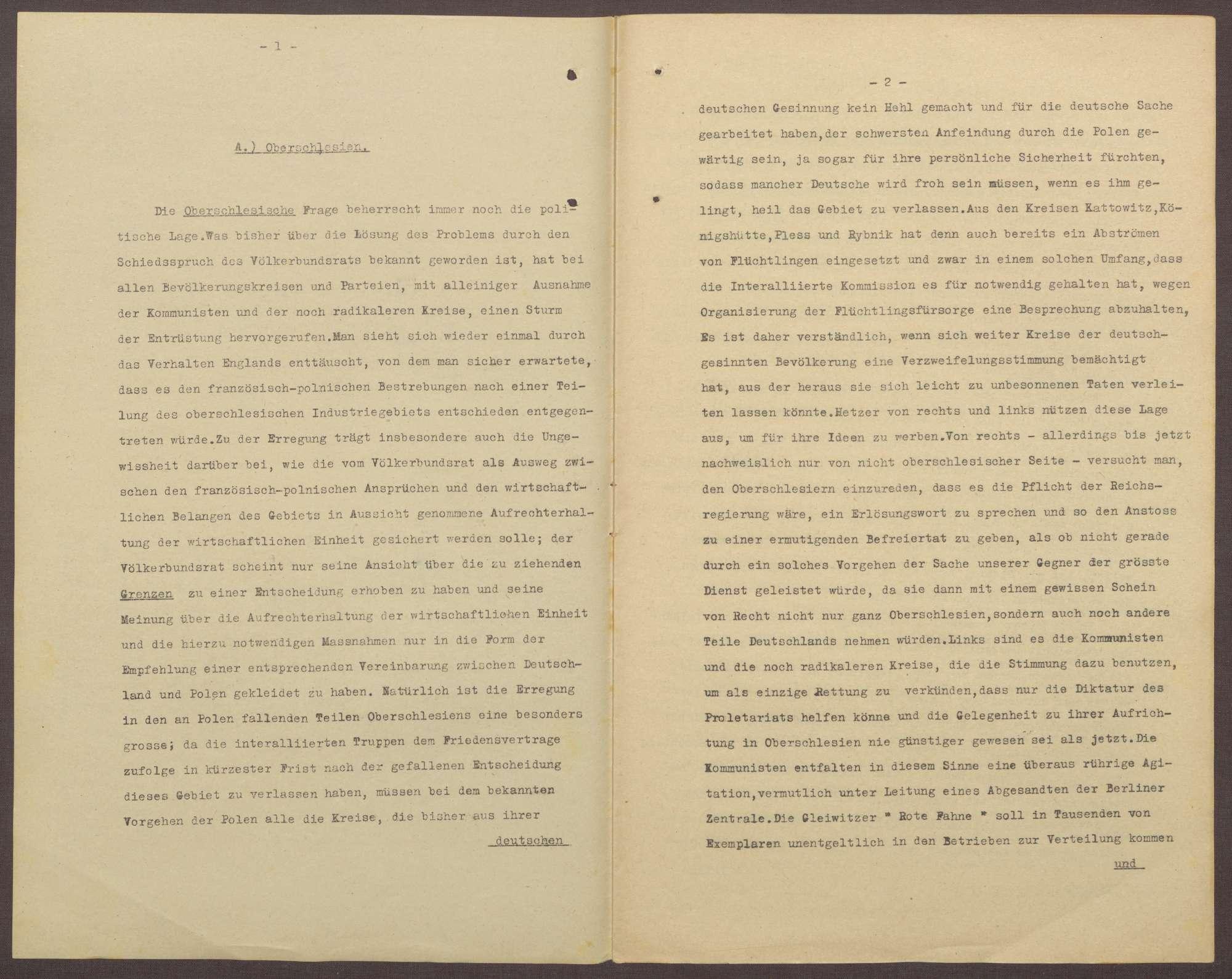 Lageberichte des Reichskommissars für Überwachung der öffentlichen Ordnung, Nr. 58a; zweimal vorhanden, Bild 2