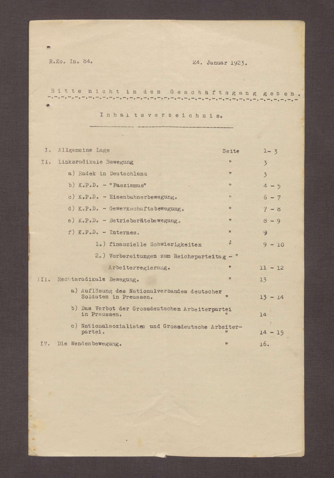 Lageberichte des Reichskommissars für Überwachung der öffentlichen Ordnung, Nr. 84, Bild 1