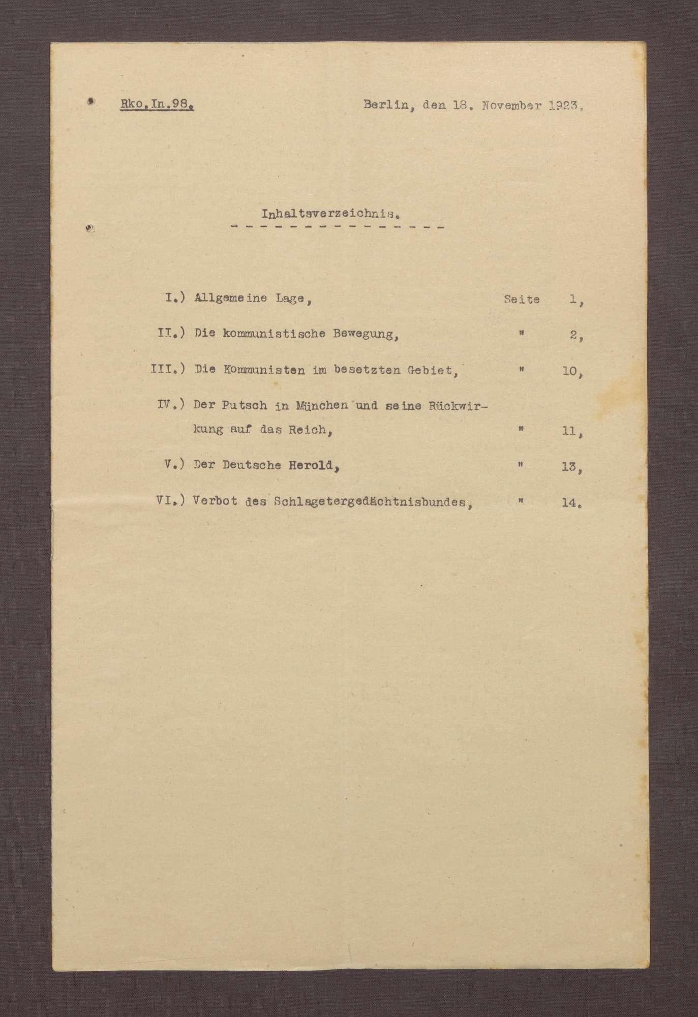 Lageberichte des Reichskommissars für Überwachung der öffentlichen Ordnung, Nr. 98, Bild 1