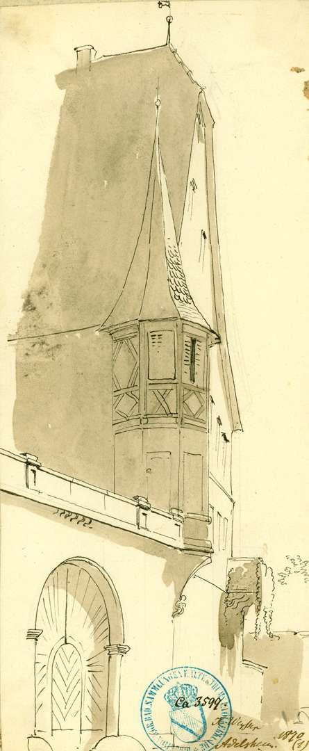 Adelsheim Giebelfassade mit Erker, Bild 1
