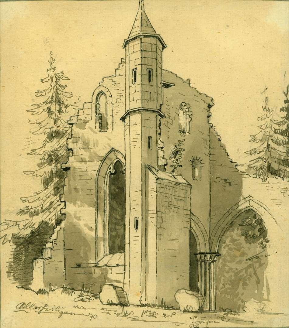Allerheiligen Klosterruine von Norden - Turm am nördlichen Querhaus, Bild 1