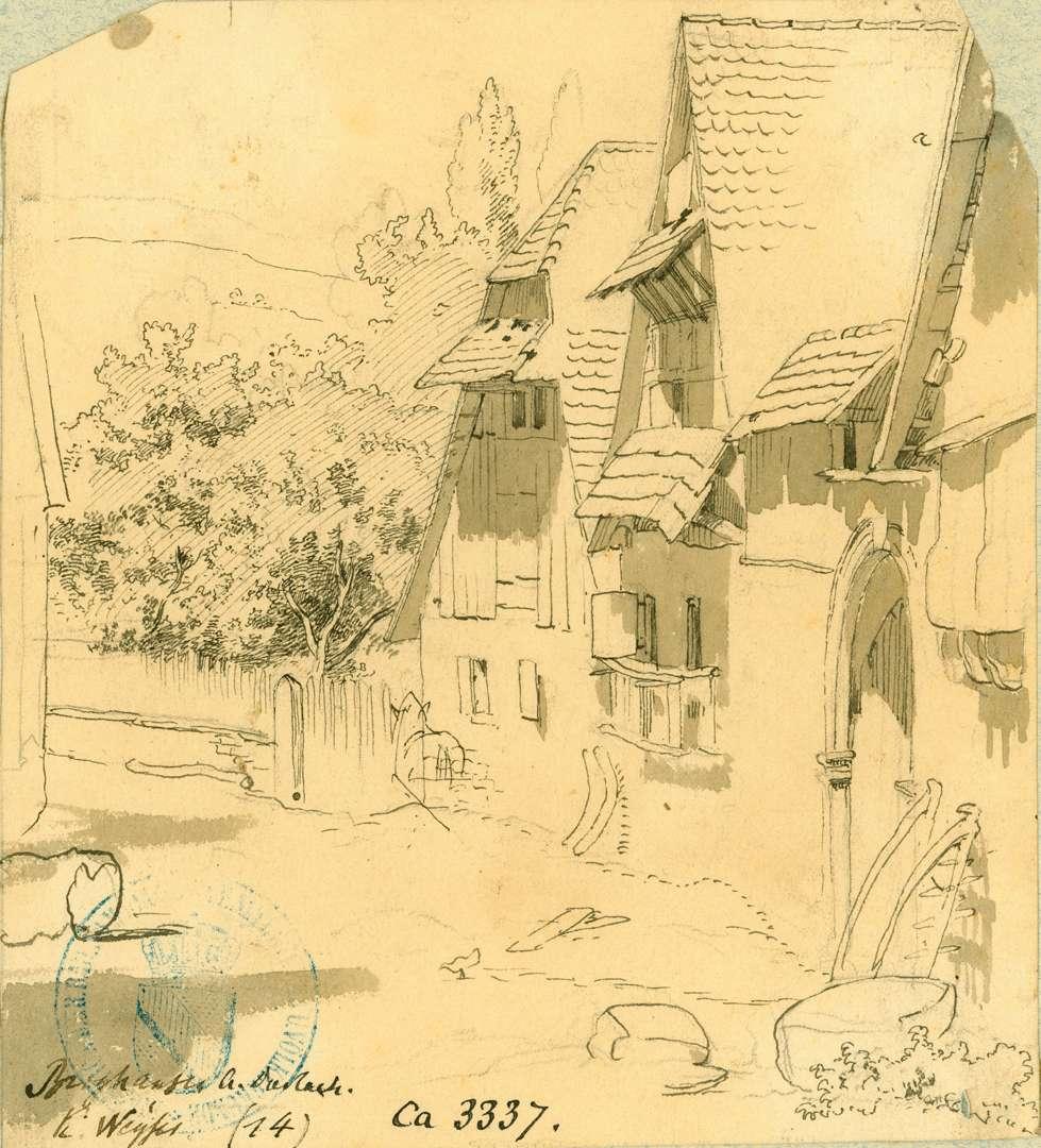 Berghausen Dorfstraße mit Fachwerkhäusern, Bild 1