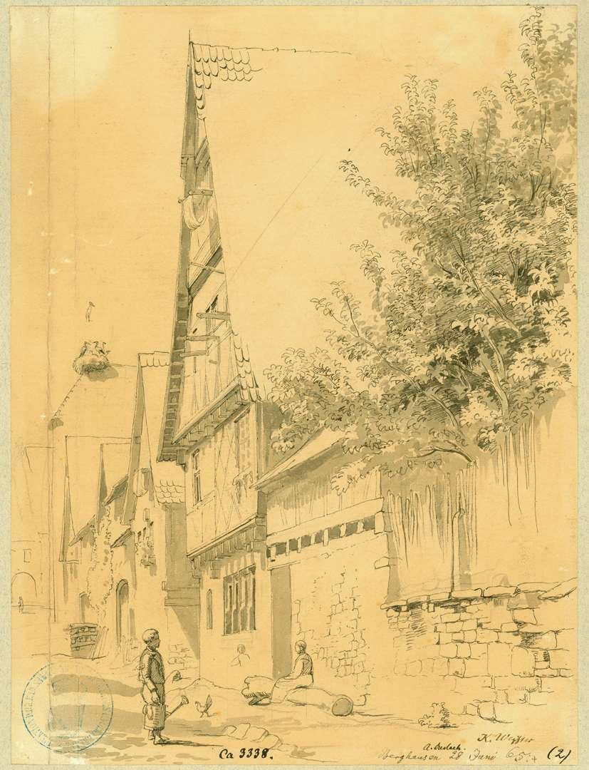 Berghausen Straße mit Fachwerkhäusern, Bild 1