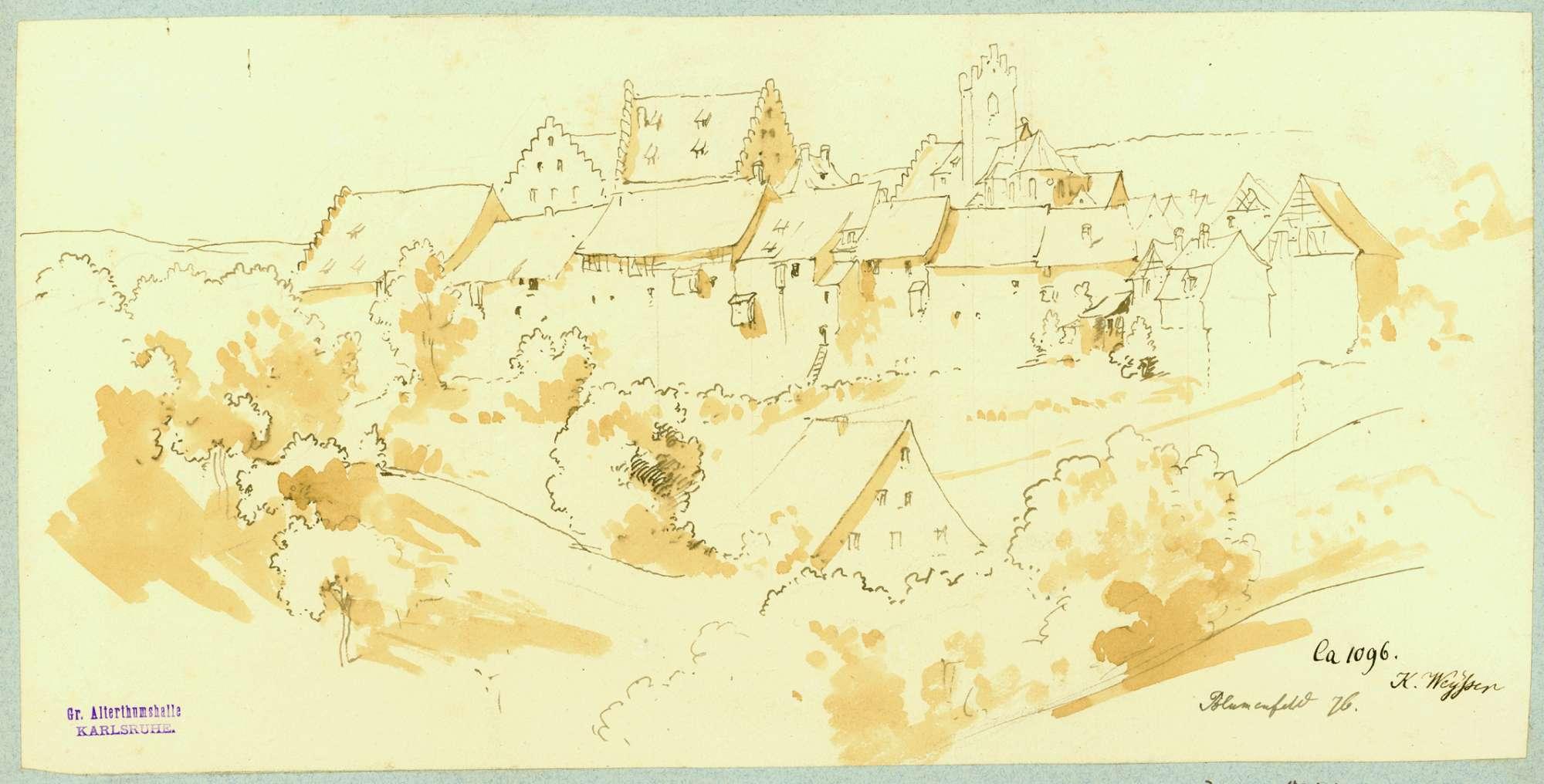 Blumenfeld Stadtansicht von Osten, Bild 1