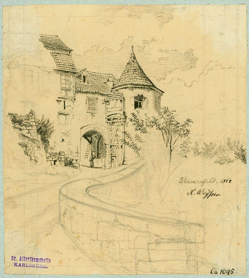 Blumenfeld Torseite Schloss, Bild 1