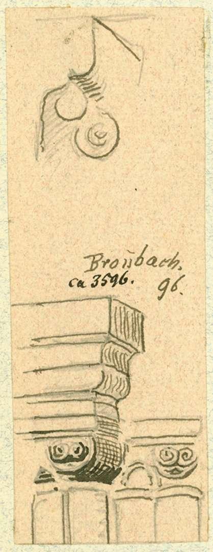 Bronnbach Detailzeichnung Kapitell, Bild 1