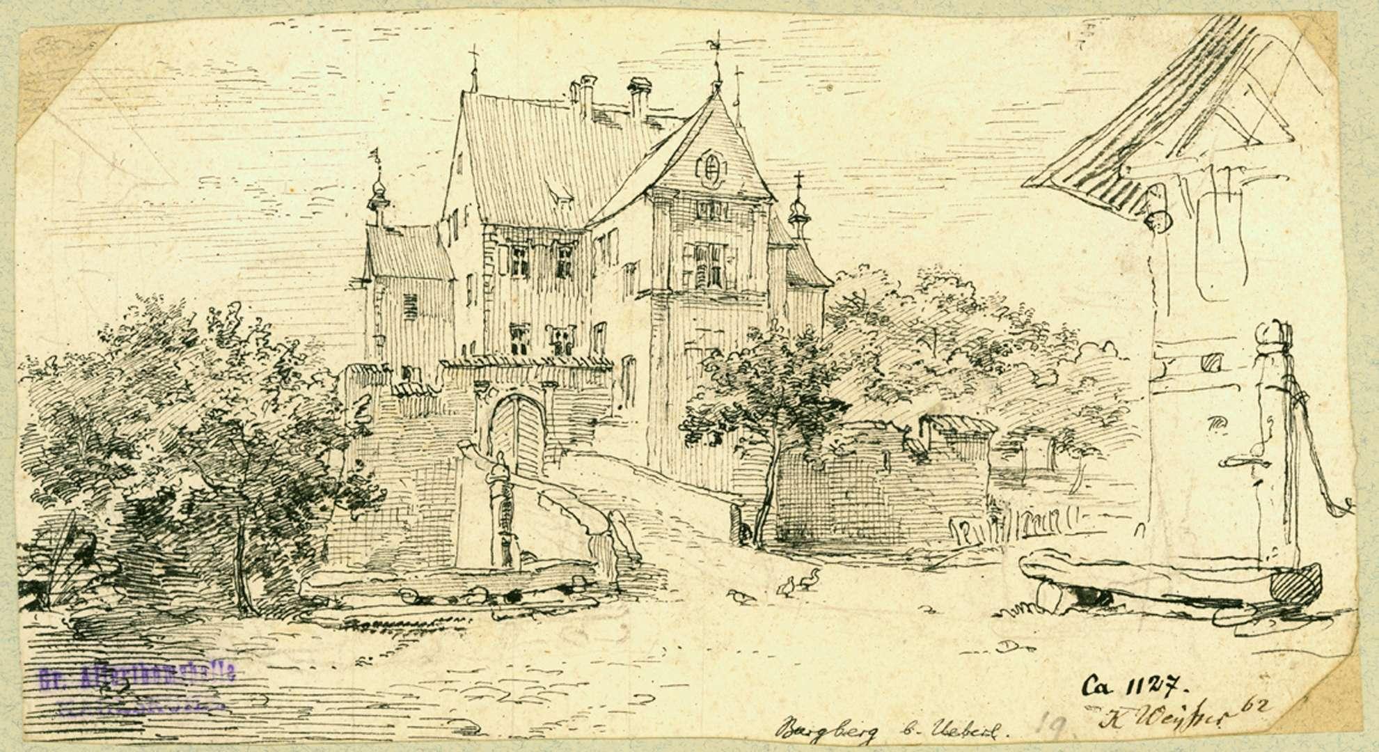 Burgberg Wasserschloss, Torseite, Bild 1