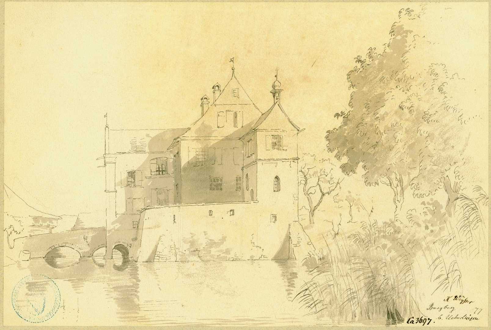 Burgberg Wasserschloss, Burgberg von Osten, Bild 1