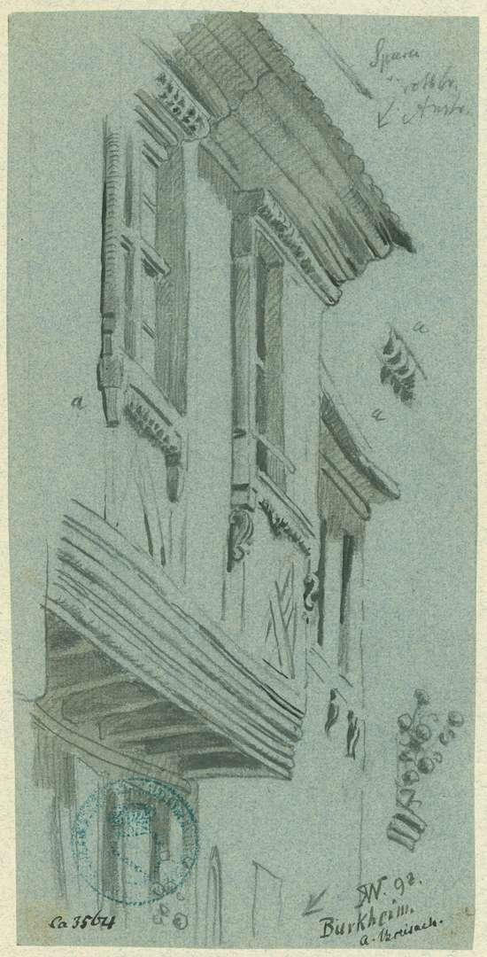 Burkheim Fachwerkhaus mit Vorbau, Bild 1