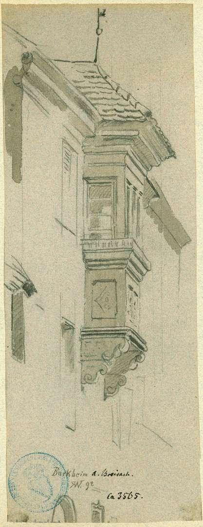 Burkheim Hauswand mit Erker, Bild 1