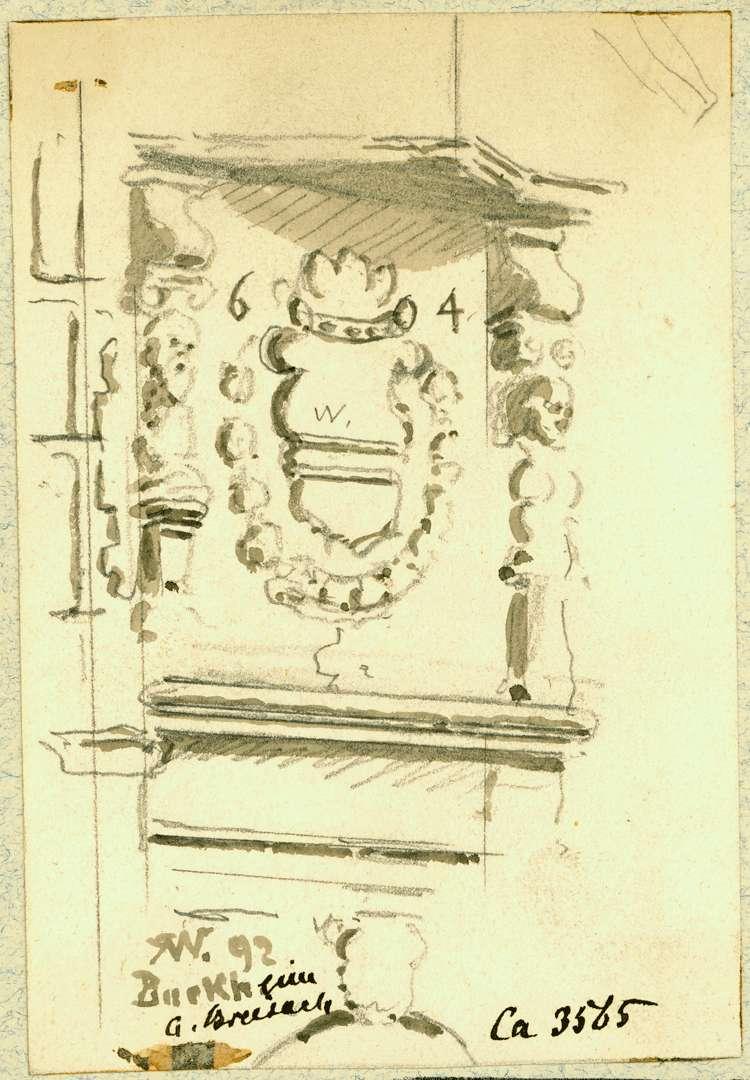 Burkheim Wappen Erkersockel, Bild 1