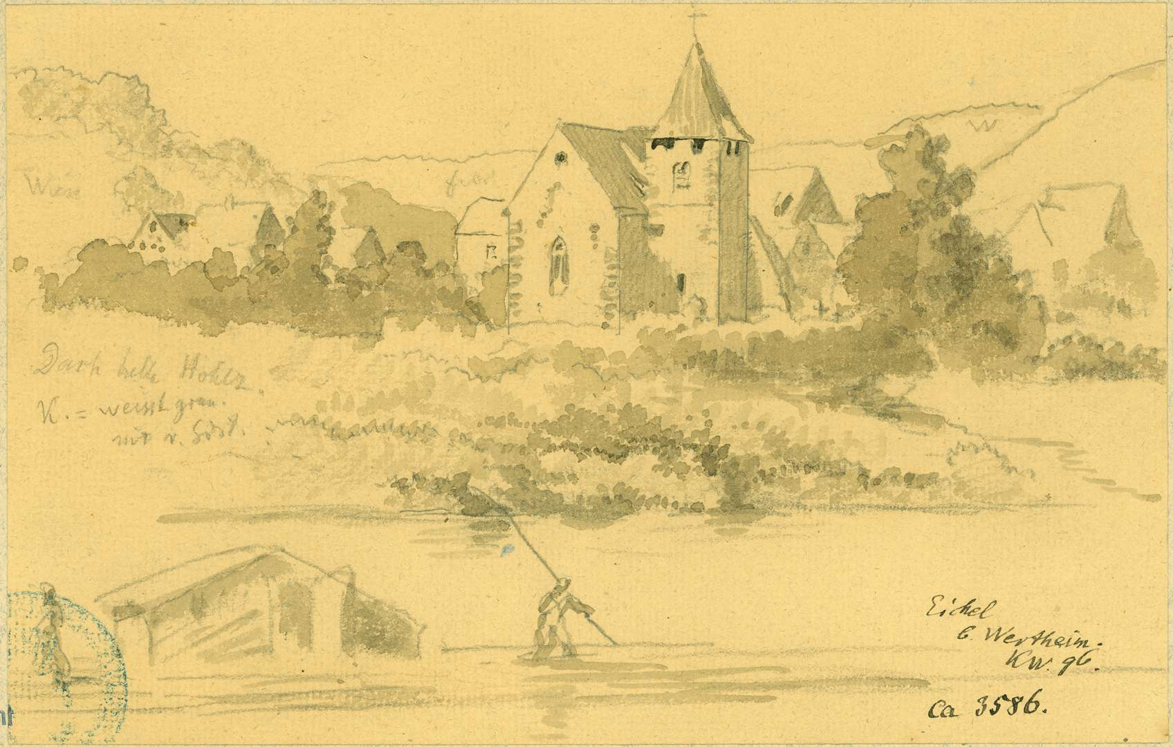 Eichel Ansicht Veitskirche mit Dorf im Hintergrund, Bild 1