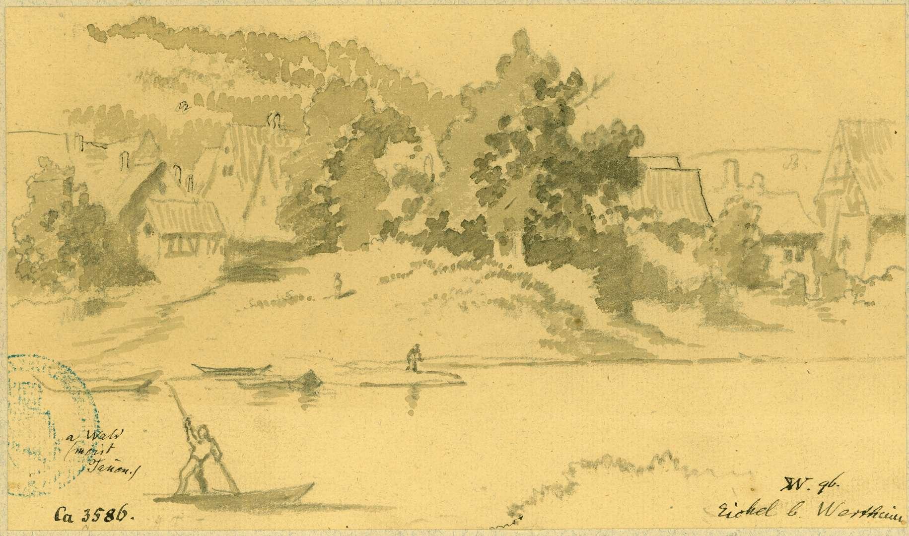 Eichel Dorf vom Main aus gesehen, Bild 1