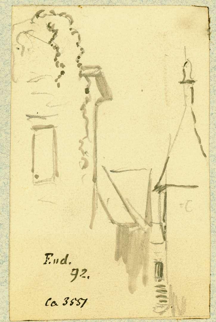 Endingen Blick zwischen Häusern auf das Stadttor, Bild 1