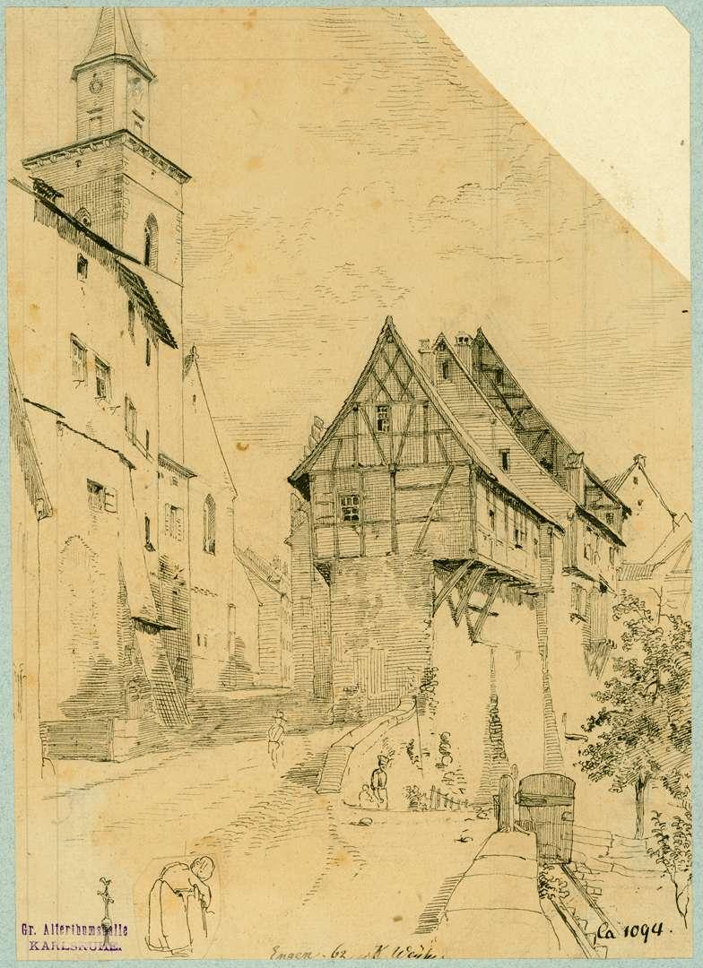 Engen Straßenpartie an der Liebfrauenkirche, Bild 1