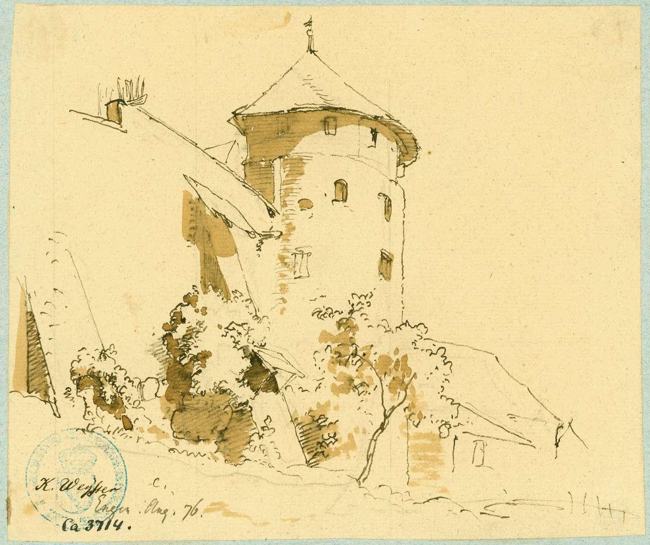 Engen Stadtmauer mit Wehrturm beim Krenkinger Schloss, Bild 1