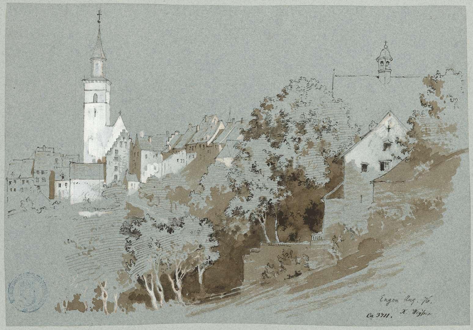 Engen Blick auf Stadt und Kirche, Bild 1