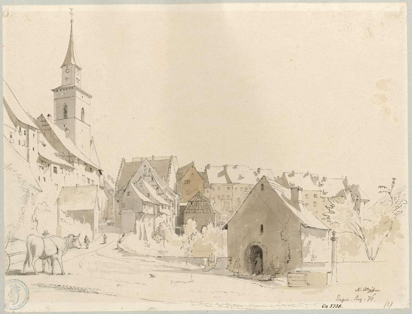 Engen Teilansicht der Stadt mit Liebfrauenkirche, Bild 1