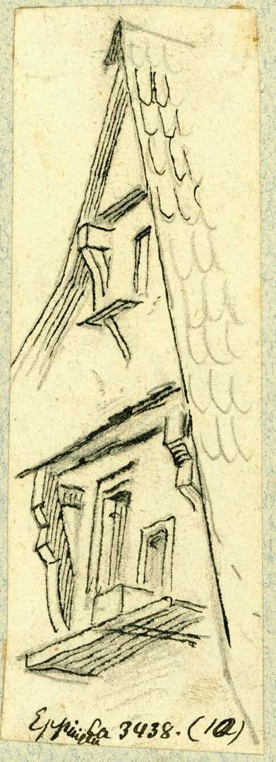 Eppingen Dachgiebel Fachwerkhaus Steingasse (Frankeburg), Bild 1