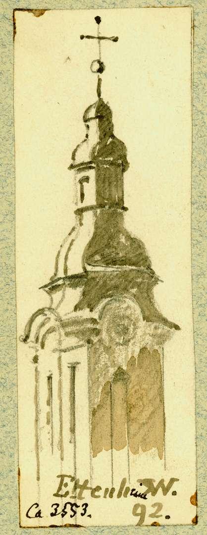 Ettenheim Obere Turmhälfte Pfarrkirche, Bild 1