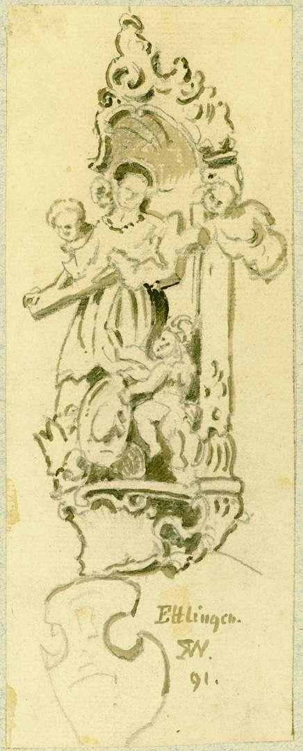 Ettlingen Heiliger Borromäus vom Haus Kronenstraße, Bild 1