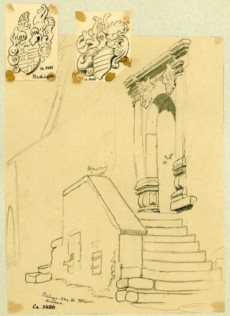 Fischingen Renaissanceportal mit Treppenaufgang, Bild 1