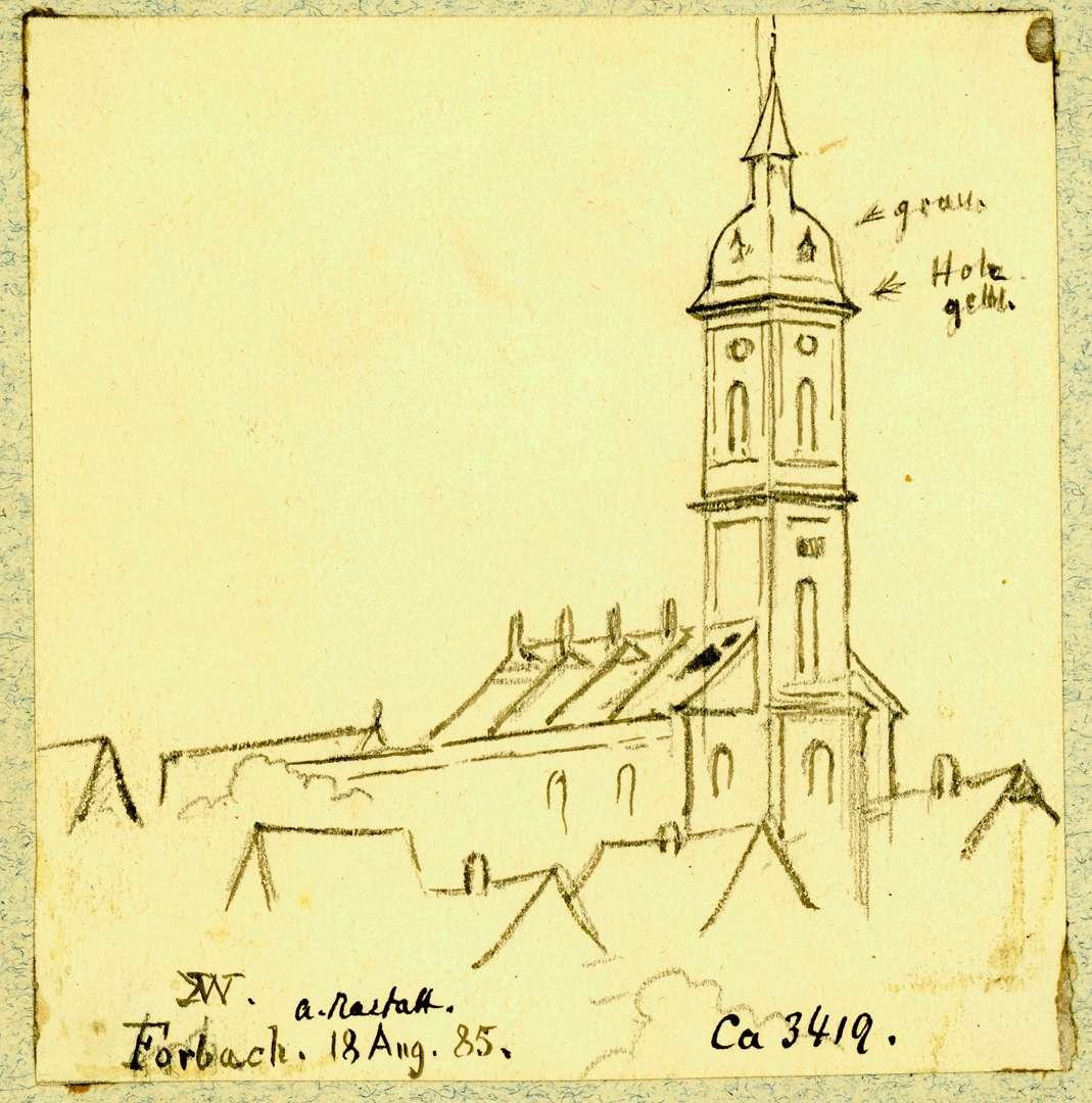 Forbach Katholischen Pfarrkirche von Westen, Bild 1