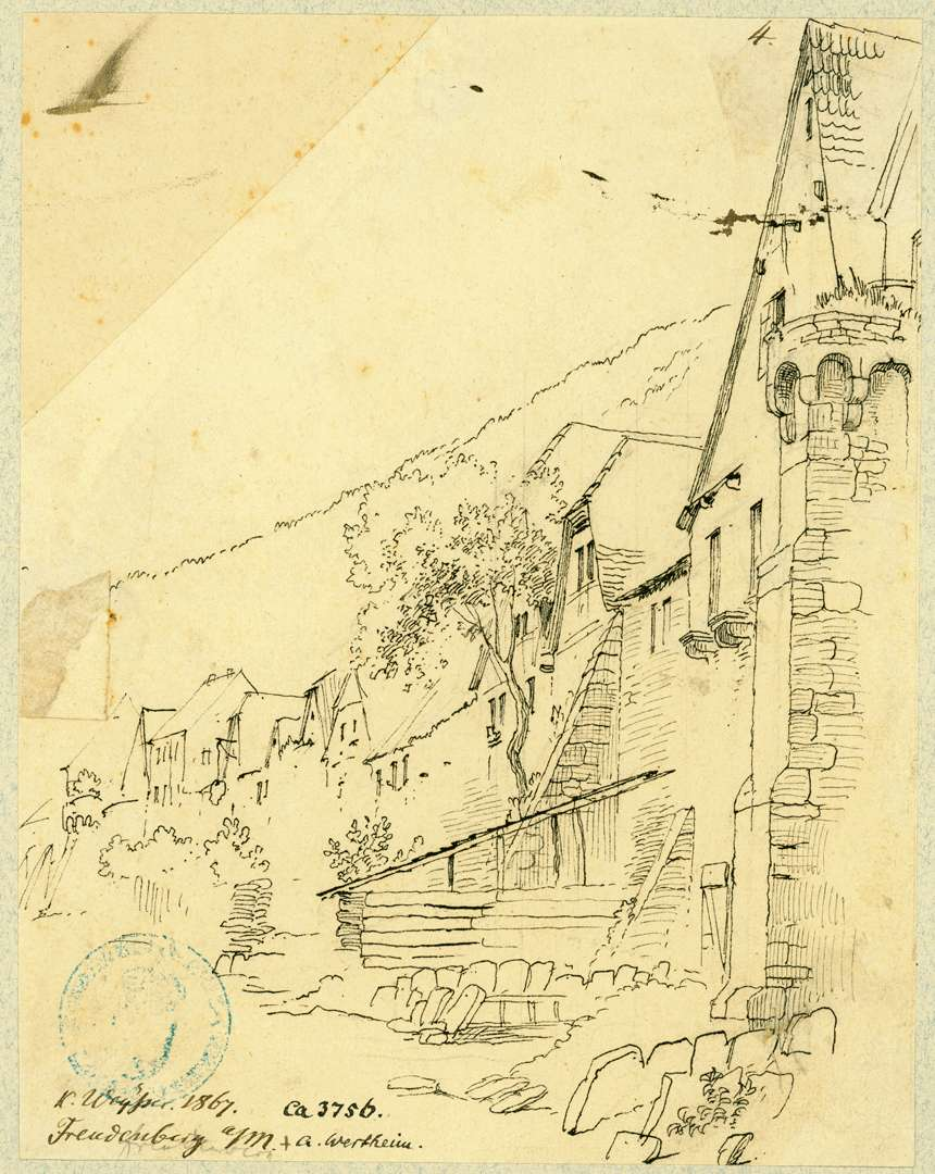 Freudenberg Blick entlang der Stadtmauer, Bild 1