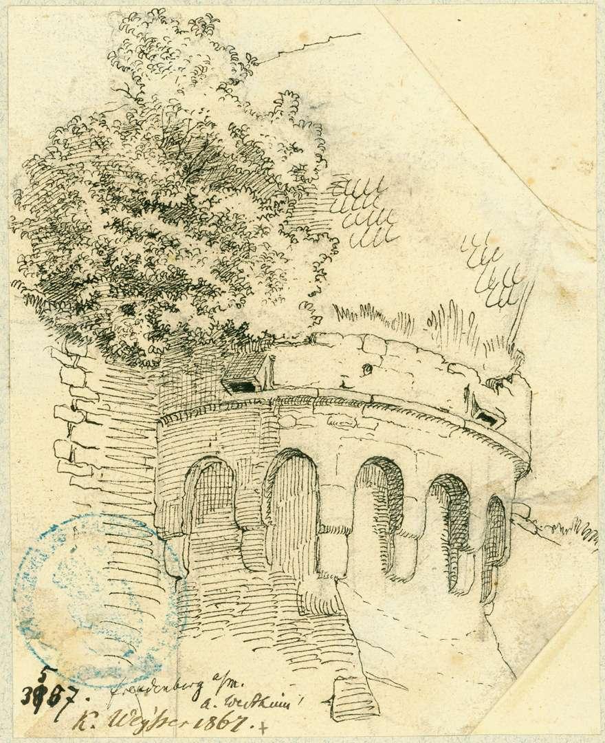 Freudenberg Bekrönung Stützpfeiler mit Bogenfries auf Konsolen, Bild 1