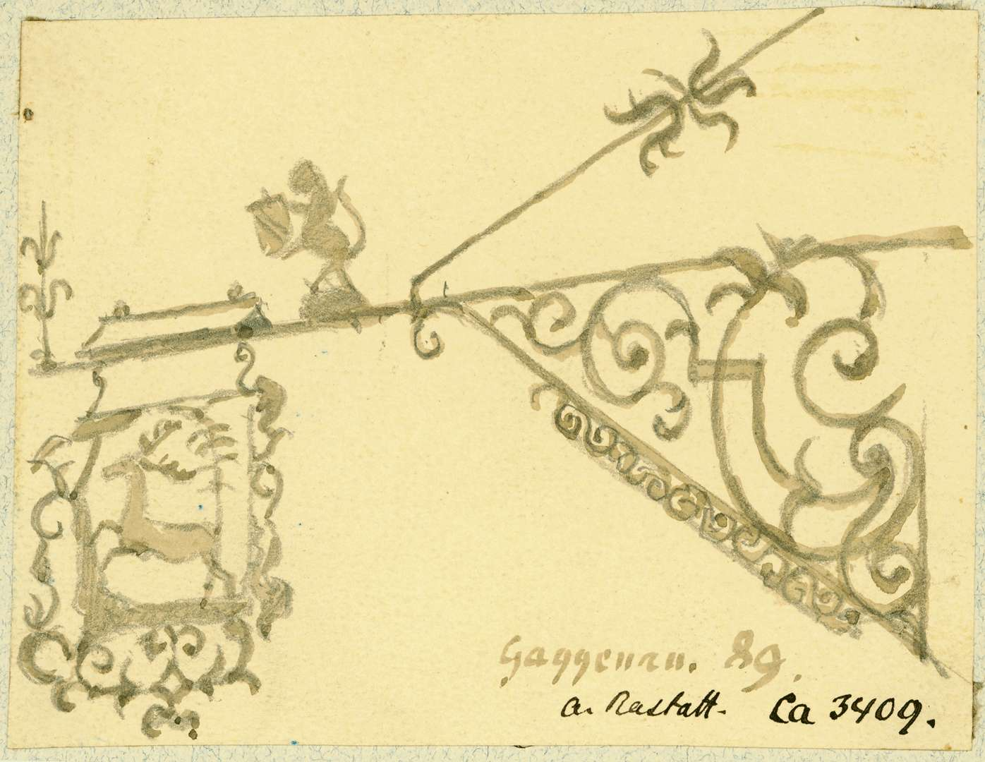 Gaggenau Wirtshausschild Zum Hirsch, Bild 1