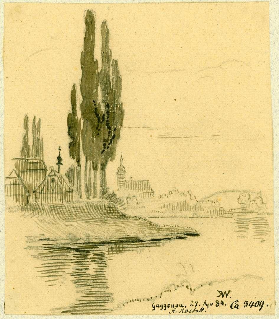 Gaggenau Blick über die Murg auf die Stadt, Bild 1