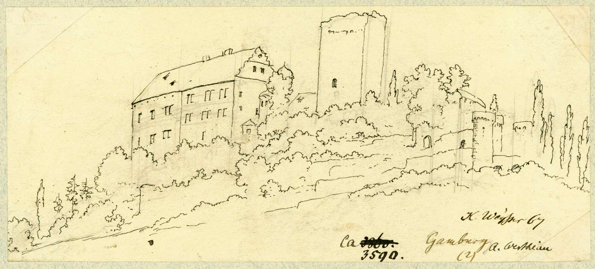 Gamburg Gamburg von Westen, Bild 1