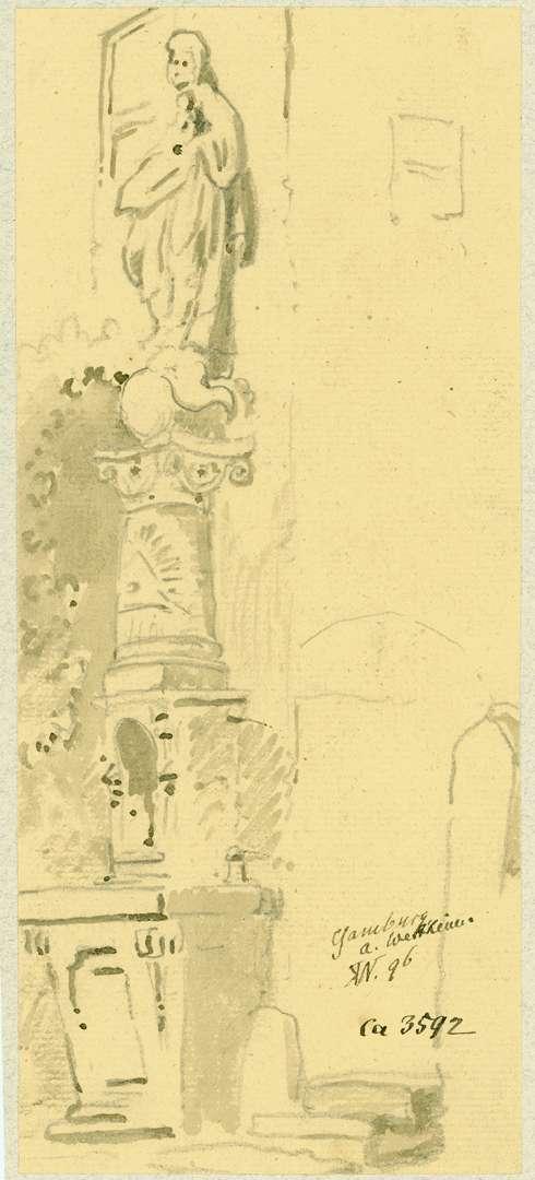 Gamburg Mariensäule mit der Dreifaltigkeit, Bild 1