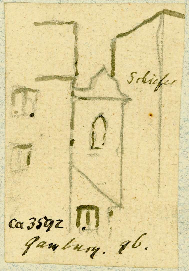 Gamburg Blick zwischen Häusern hindurch, Bild 1