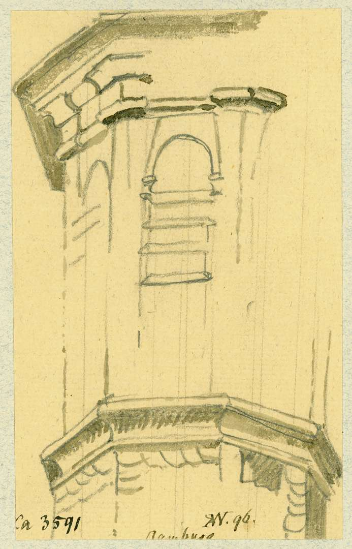 Gamburg Achteckiger Treppenturm am Hofgebäude, Bild 1