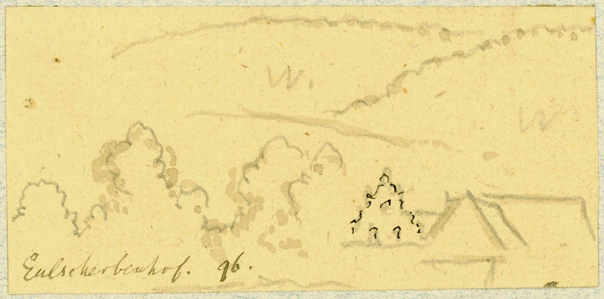 Gamburg Landschaft mit Eulschirbenmühle, Bild 1
