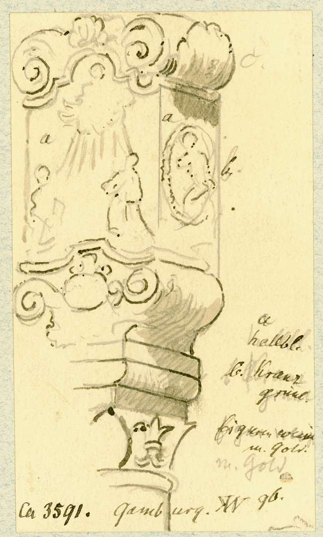 Gamburg Bekrönung Mariensäule, Bild 1