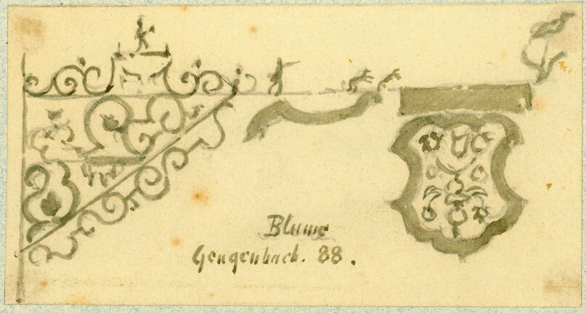 Gengenbach Wirtshausschild Blume, Bild 1