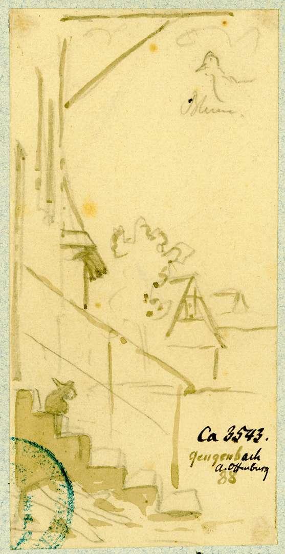 Gengenbach Treppenaufgang Gasthaus Blume, Bild 1