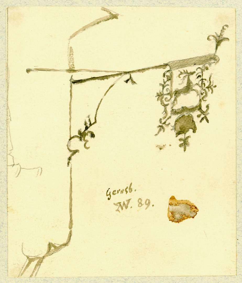 Gernsbach Wirtshausschild Zum Hirsch, Bild 1
