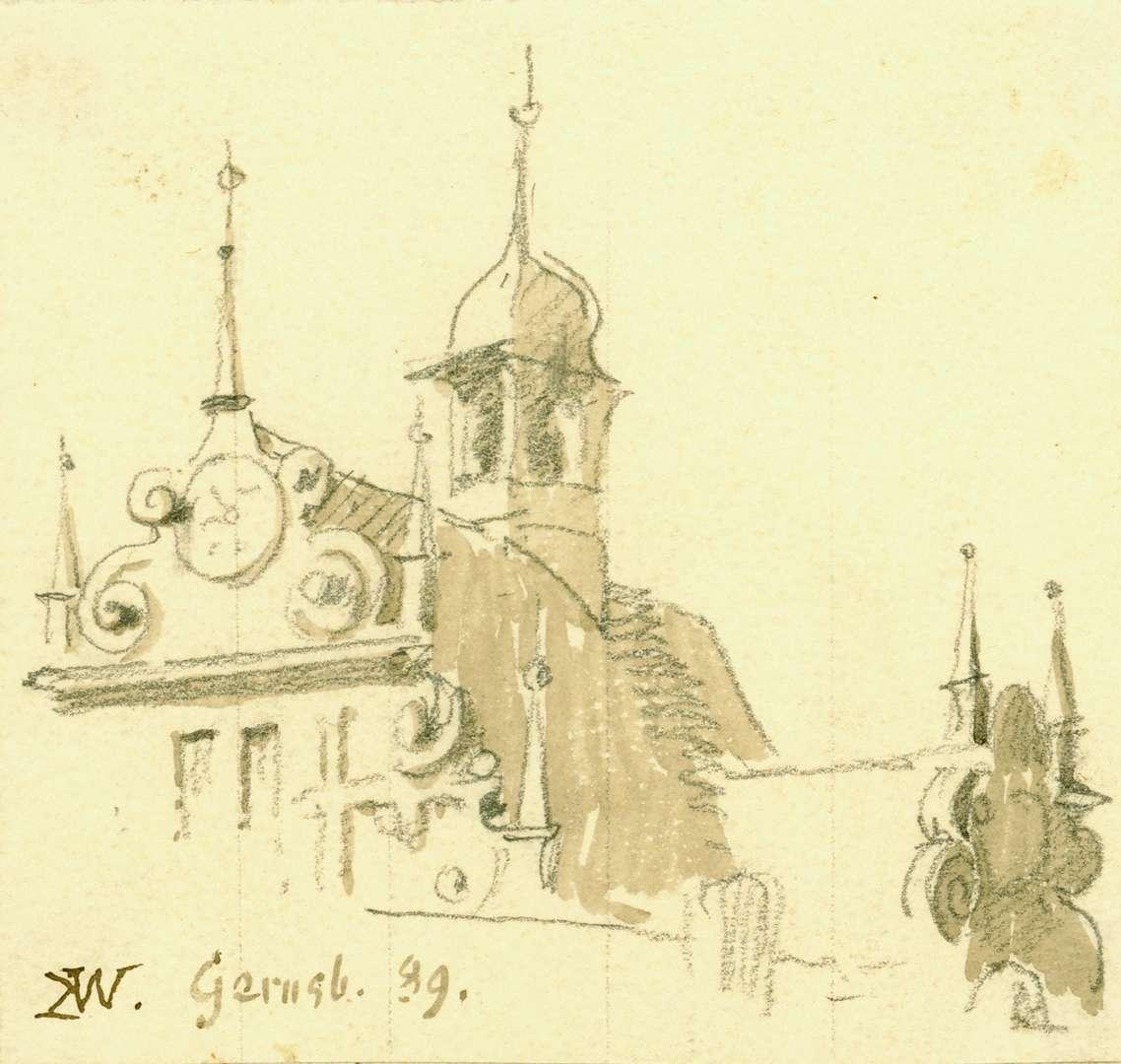 Gernsbach Giebelfassade Rathaus, Bild 1