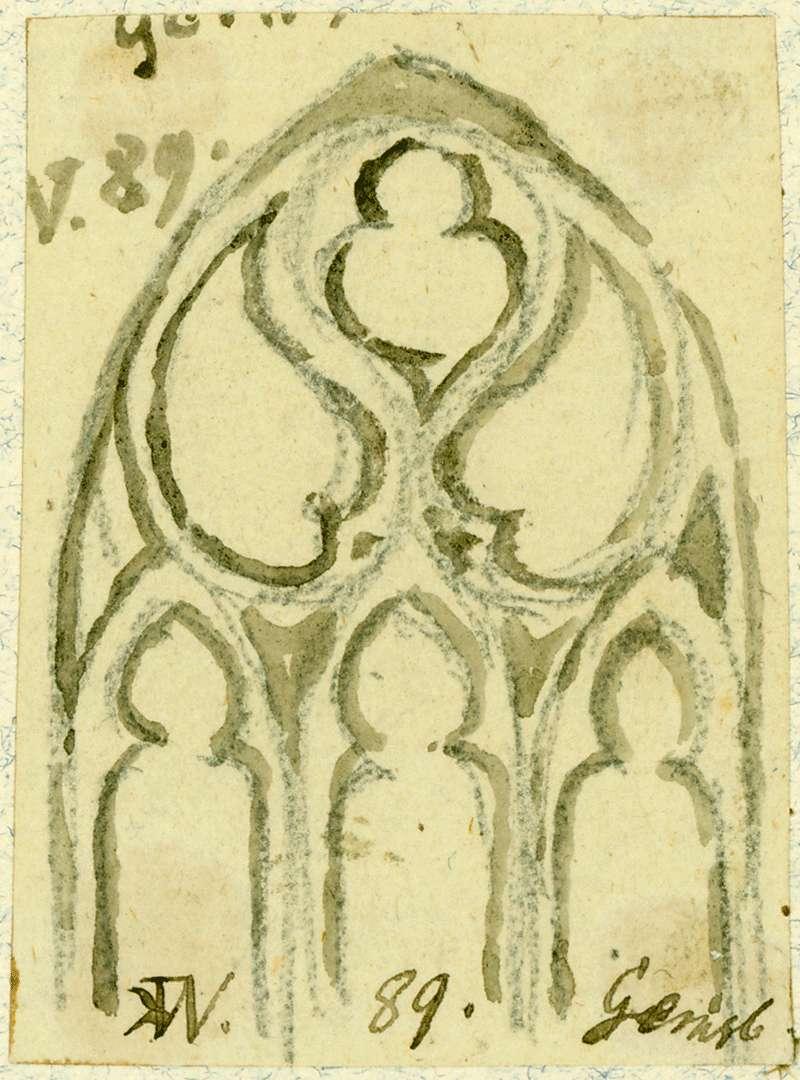 Gernsbach Fenster Liebfrauenkirche mit gotischem Maßwerk, Bild 1