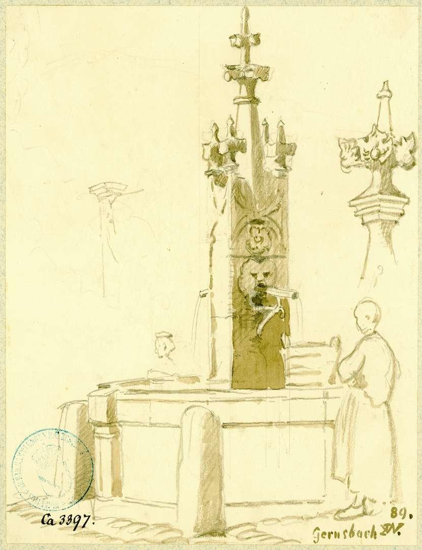 Gernsbach Brunnen auf der Hofstätte aus dem Jahre 1511, Bild 1