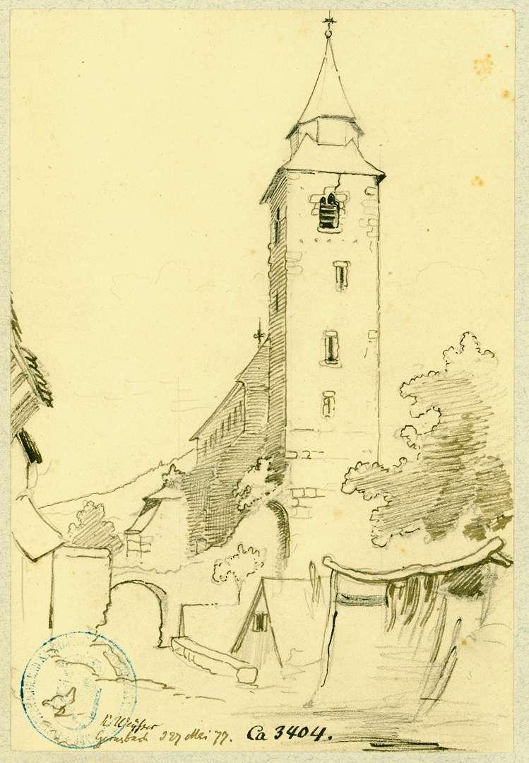 Gernsbach Blick auf Liebfrauenkirche aus westlicher Richtung, Bild 1