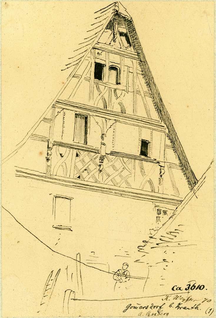 Gommersdorf Giebelfront Fachwerkhaus, Bild 1